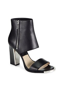 Michael Kors - Leather Sandal Ankle Boots