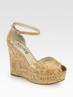 Kors Michael Kors - Kamil Cork Wedge Sandals