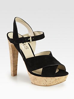 Kors Michael Kors - Adair Suede Cork Platform Sandals