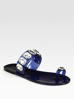 Kors Michael Kors - Malaya Rhinestone-Encrusted Thong Sandals