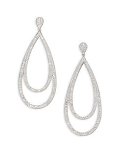 Adriana Orsini - Double Loop Sparkle Earrings