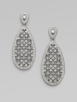 Adriana Orsini - Crystal Snowshoe Drop Earrings