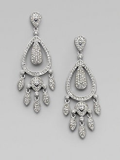 Adriana Orsini - Crystal Pav&#233 Swing Chandelier Earrings