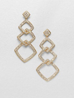 Adriana Orsini - Diamond-Shaped Link Earrings