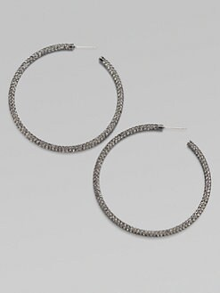 Adriana Orsini - Pav&#233 Antiqued Hoop Earrings/2