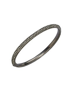 Adriana Orsini - Two-Row Pave Antiqued Bracelet