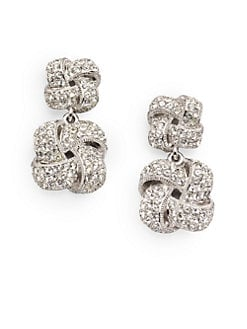 Adriana Orsini - Double Knot Drop Earrings