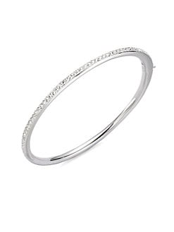 Adriana Orsini - Channel Set Crystal Bangle Bracelet