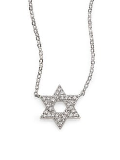 Adriana Orsini - Sterling Silver Pave Star Of David Necklace