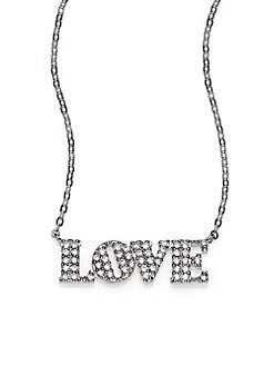 Adriana Orsini - Sterling Silver Pave Love Necklace