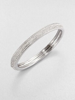 Adriana Orsini - Pavé Triple Row Bangle Bracelet