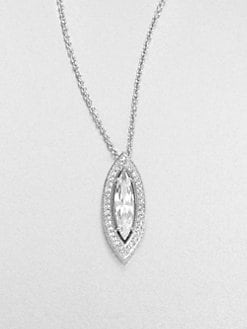 Adriana Orsini - Pavé Framed Pendant Necklace