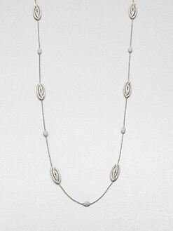 Adriana Orsini - Pavé Oval Station Necklace