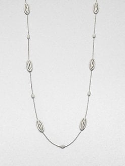 Adriana Orsini - Pav&eacute; Oval Station Necklace