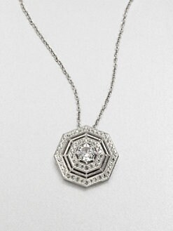Adriana Orsini - Pav&eacute; Octagon Pendant Necklace