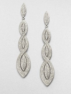 Adriana Orsini - Pavé Braided Drop Earrings