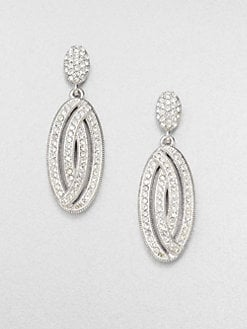 Adriana Orsini - Pavé Oval Drop Earrings