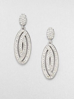 Adriana Orsini - Pav&eacute; Oval Drop Earrings