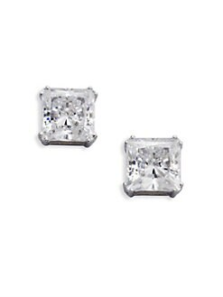 Adriana Orsini - Sterling Silver Square Stud Earrings