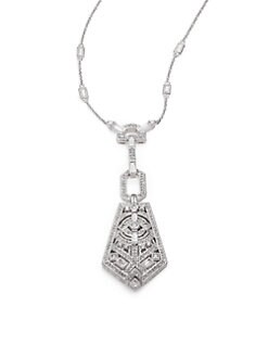 Adriana Orsini - Legacy Pave Crystal Pendant Chain Necklace