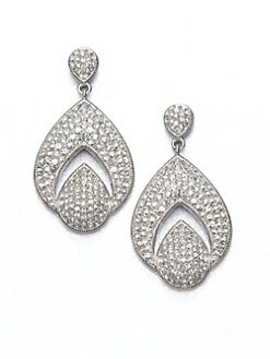 Adriana Orsini - Open Drop Pavé Earrings
