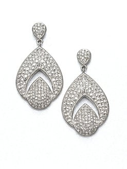 Adriana Orsini - Open Drop Pav&eacute; Earrings