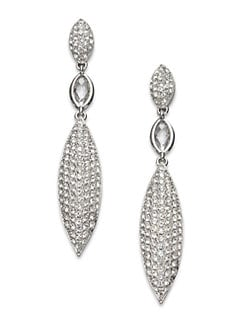 Adriana Orsini - Navette Pavé Linear Drop Earrings