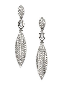 Adriana Orsini - Navette Pav&eacute; Linear Drop Earrings