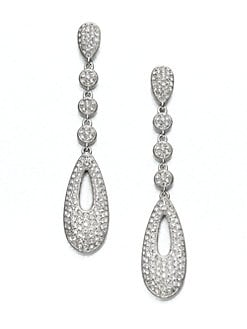 Adriana Orsini - Pavé Linear Drop Earrings