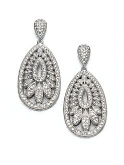 Adriana Orsini - Pavé Fan Drop Earrings