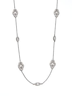 Adriana Orsini - Pavé Framed Station Necklace