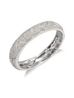 Adriana Orsini - Woven Pav&eacute; Bangle
