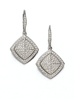 Adriana Orsini - Pav&eacute; Crystal Shield Drop Earrings