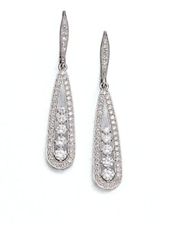 Adriana Orsini - Pav&eacute; Framed Teardrop Earrings