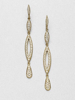 Adriana Orsini - Pavé Crystal Triple Drop Earrings