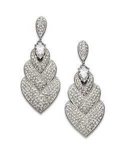 Adriana Orsini - Pav&eacute; Layered Drop Earrings