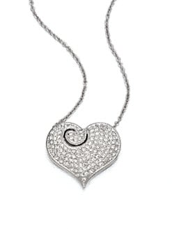 Adriana Orsini - Pavé Crystal Heart Pendant Necklace