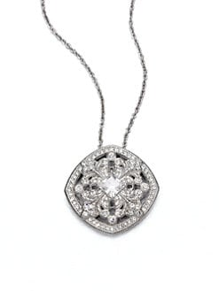Adriana Orsini - Pavé Flourish Pendant Necklace