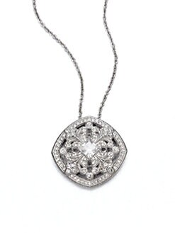 Adriana Orsini - Pav&eacute; Flourish Pendant Necklace