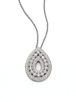 Adriana Orsini - Pav&eacute; Crystal Open Teardrop Pendant Necklace
