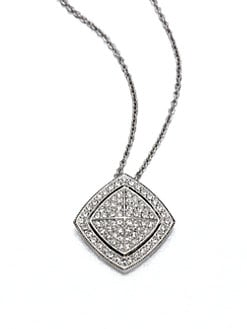 Adriana Orsini - Pav&eacute; Crystal Shield Pendant Necklace