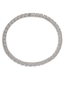 Adriana Orsini - Pav&eacute; Crystal Link Collar Necklace