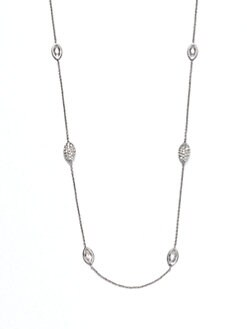Adriana Orsini - Pav&eacute; & Faceted Station Necklace