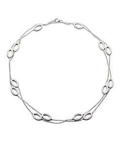 Adriana Orsini - Stationed Pave Crystal Necklace