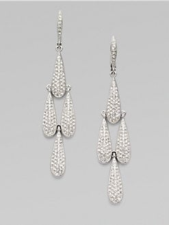 Adriana Orsini - Crystal Encrusted Long Teardrop Earrings