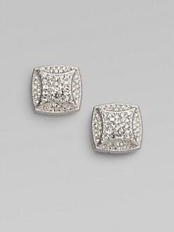 Adriana Orsini - Pavé Square Earrings