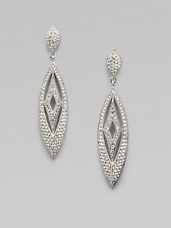 Adriana Orsini - Crystal Accented Diamond Leaf Earrings