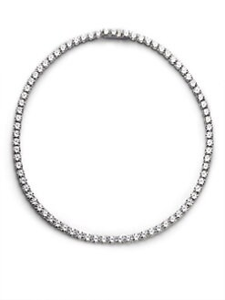 Adriana Orsini - Sterling Silver Tennis Necklace