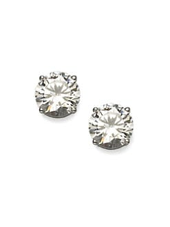 Adriana Orsini - Sterling Silver 2.5 Carat Stud Earrings