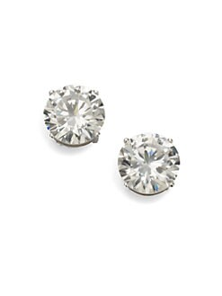 Adriana Orsini - Sterling Silver 4 Carat Stud Earrings